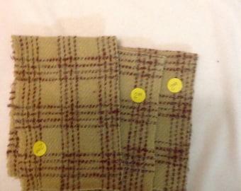 Butterscotch Plaid wool