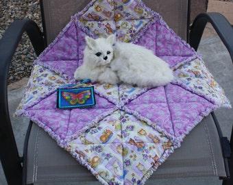 Cat Quilt, Cat Blanket, Cat Bed, Travel Cat Bed, Catnip Blanket, Catnip Mat, Crate Mat, Purple Cat Blanket, Colorado Catnip Bed, Pet Mat