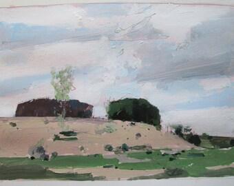Toward Lost Dog Hill, October 10, Original Landscape Painting on Paper, Stooshinoff