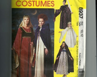 McCall's Misses' Medieval Costume Pattern 8937