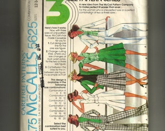 McCall's Misses Unlined Jacket, Vest,  Pants, and Skirt Pattern 5625
