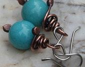 50% OffTurquoise Earrings Copper Earrings Copper Jewelry
