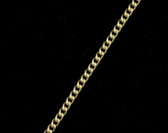 Bright Gold, 1.5mm Delicate Curb Chain #CC45