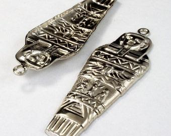 65mm Silver Mummy Charm #2454
