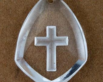 25mm Crystal Cross Pendant  #2189