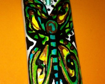 Dragon fly  tHeMe Pendant Hand Painted Wearable Art Jewelry CUSTOM MADE