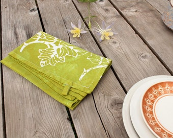 grape leaves tea towel