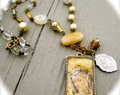 Saint Anthony Pray For Us handmade necklace