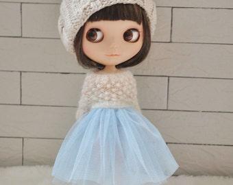 Babydoll TUTU Skirt for Blythe-Baby Blue