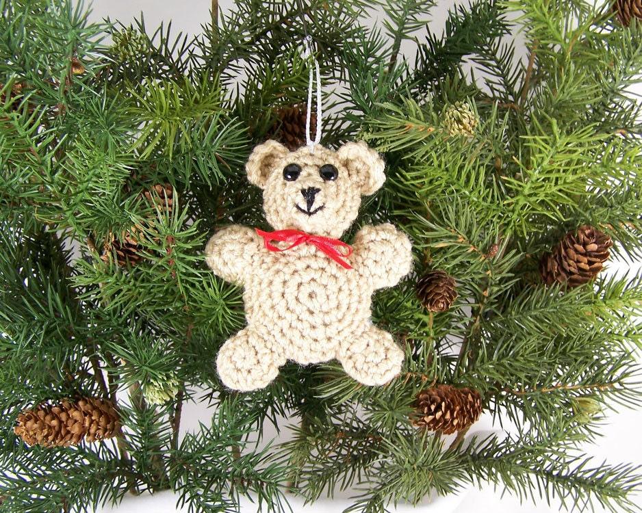 Amigurumi Christmas Decorations : Christmas Ornaments animal crochet amigurumi bear by wigglysee