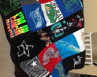 Custom Order - Keepsake T-shirt Blanket Quilt Throw