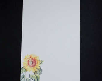 Sunflower, fine stationery set, writing set, hand written letters, 30 pieces, unlined or lined, letter writing set