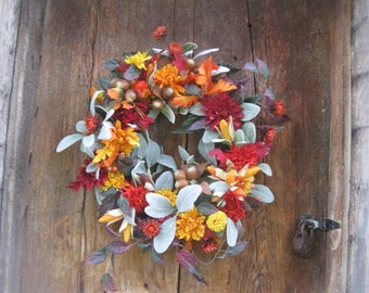REPUNZEL  WREATH    silk flowers  for FALL autumn and Harvest