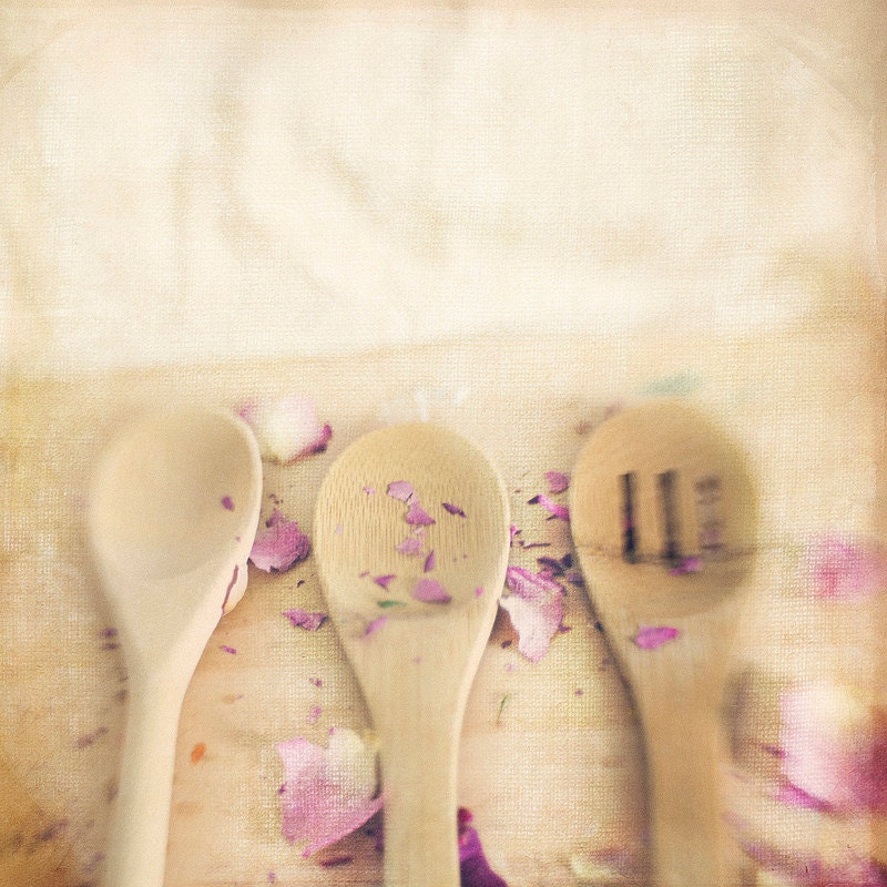 3 Wooden Spoons Dried Petals Gallery32 etsy