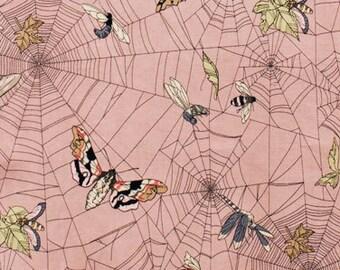 Ghastlie Web Alexander Henry Mauve or Gray Moths Spiderwebs 1 yard