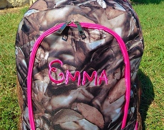 SALE Pretty in Pink Camo Backpack Monogrammed Name or Initials of Your Choice