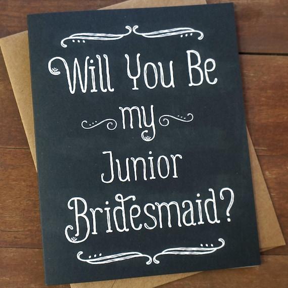 Wedding Gifts For Junior Bridesmaid : Junior Bridesmaid Card- Wedding Party Card Sister Jr Bridesmaid Gift ...