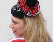 Scottish Tartan Punk pillow box hat fascinator - Winter Hat trends 2014