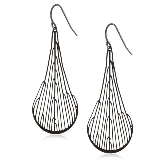 Dichotomous Earrings (black)