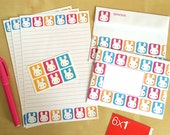 Bunny Squares Letter Set  - kawaii writing paper, envelopes & stickers