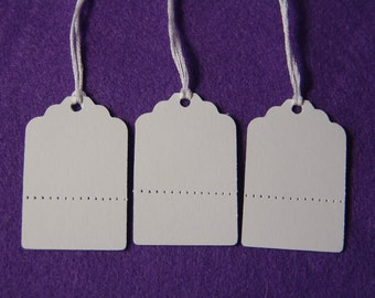 Price Tags with Perforated Bottoms, Tear off Section, Price Tags, Craft Show Tags, Inventory Tags, Garage Sale Tags,