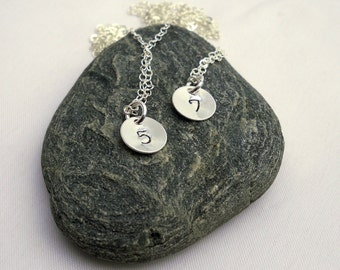 Custom Lucky Number Necklace - Sterling Silver Number Necklace - Personalized Number Jewelry - Unique Gift for Her Under 30 Dollars