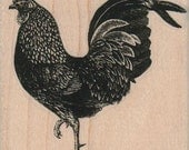 Rubber stamp   chicken rooster cling, unmounted or  wood Mounted  scrapbooking supplies 19327