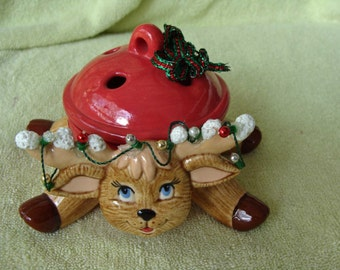Reindeer Potpourri Bowl - WOW