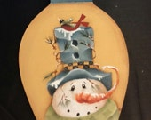 Hand painted  Christmas Bulb Shape Plaque