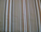 1 and 2/3 yards / Shades of Bown, Beige and Tan Stripe Upholstery / Home Decor Fabric