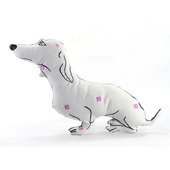 dog pillow animal pillow dachshund dog shaped by pattihaskins