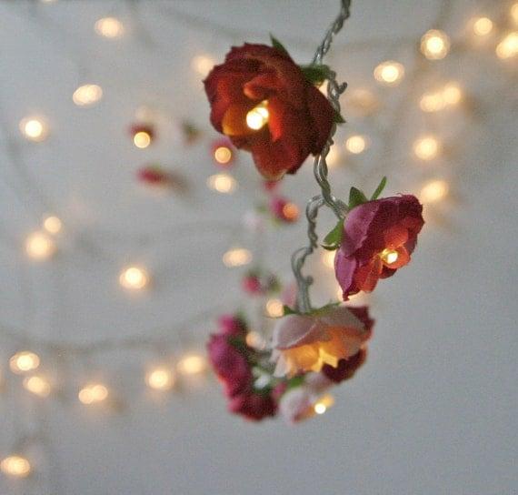 Bohemian Garden Mixed Rose Fairy Lights 2015 by PamelaAngus