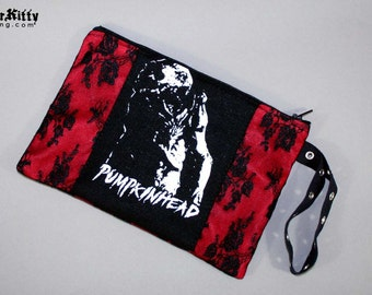 Pumpkinhead Horror Movie Lace Purse Makeup Bag Pouch