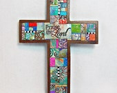 Praise The Lord Polymer Clay Tile Cross MCR0001