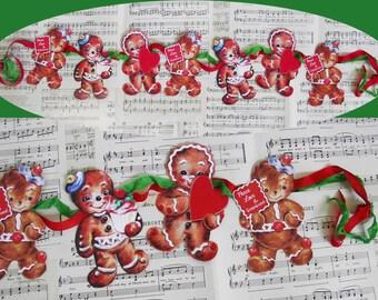 Sweet Christmas gingerbread banner