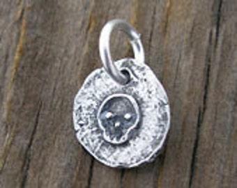 Britannium Baby Skull Charm -12mm