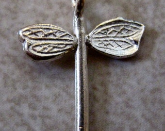 SALE  Sterling Silver Hill Tribe Dragonfly Charm