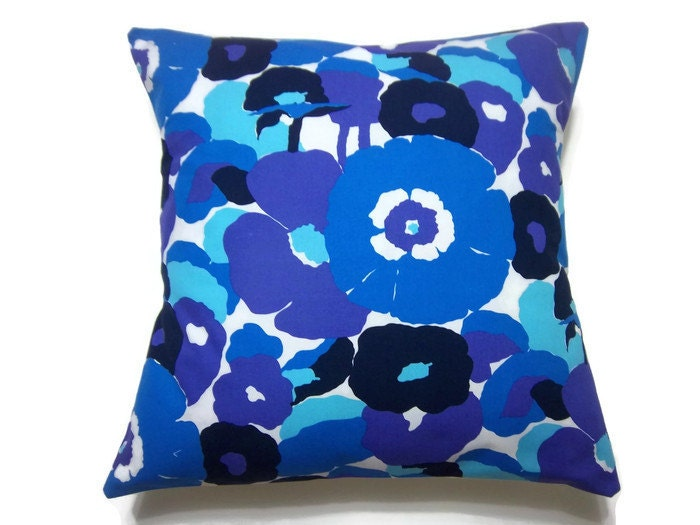 Sky Blue Decorative Pillows : Decorative Pillow Cover Purple Navy Blue Sky by LynnesThisandThat