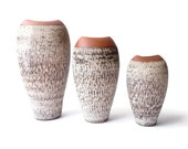 West German Vase Trio  Rare 1950s Sawa