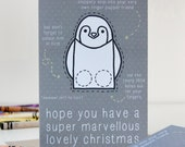 Penguin Finger Puppet Christmas Card