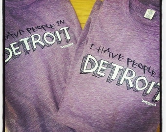 I have people in Detroit - purple - t shirt