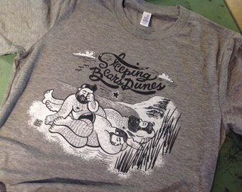 Sleeping Bears Dunes unisex - grey athletic heathered tee