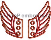 4x4 5x7 ANGEL Fairy Shoe Wings Machine Embroidery In-Hoop Design Super Hero Fantasy Steampunk Costume Percy Jackson Hermes Mercury Inspired