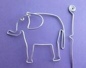 ELEPHANT SHAWL PIN wirework