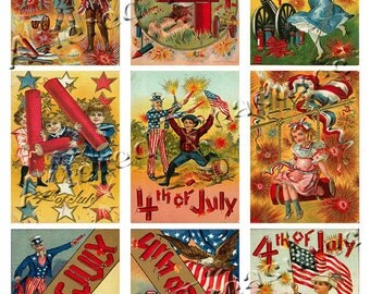 4th of July Collage Sheet 1