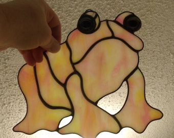 Stained Glass Frog Suncatcher, Hippie Toad