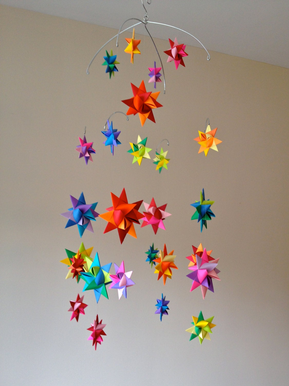 Modern Baby Mobile Hanging Origami Stars