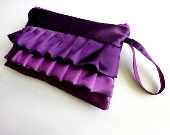 Two Purples Horizonal Wristlet