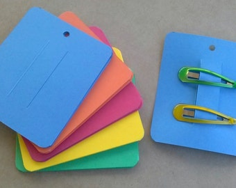 30 Hair Clip Cards, Jewelry Supply, Clippie Card, Product Tag 3 x 3 1/2 inch
