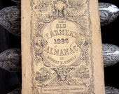 1926 Old Farmer's Almanac  Original Vintage Antique Paper Ephemera Guide Book